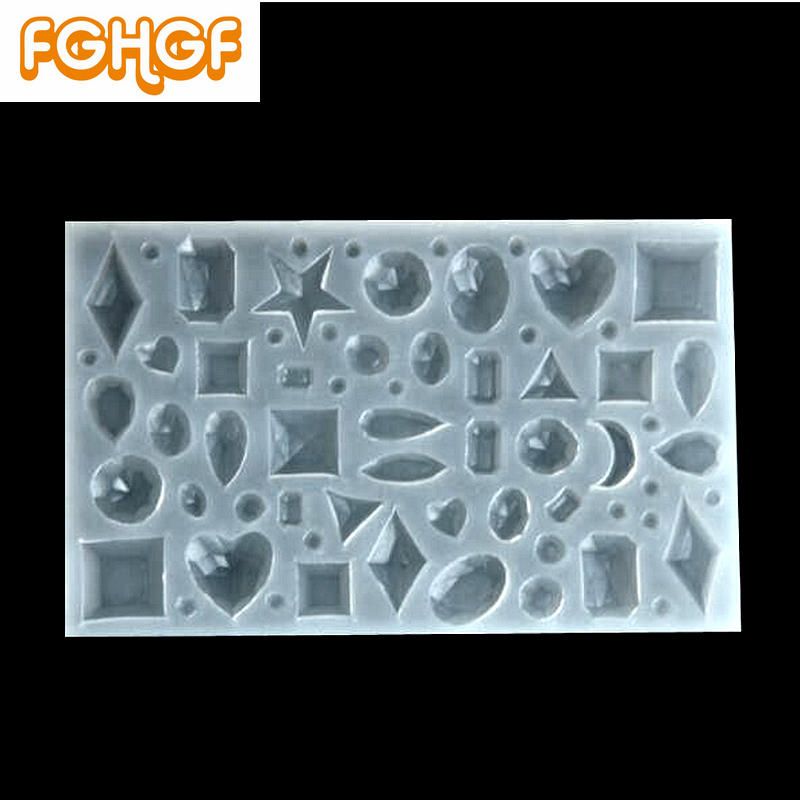 Diamond Surface Jewelry Pendant Silicone Mold Multi Style UV Resin Earrings DIY Accessories Mini Charm Geometric Mould Craft