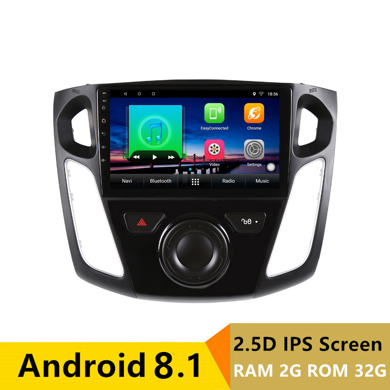 "9"" 2G RAM 32G ROM Android Car DVD Video Player GPS For Ford Focus 2012 2013 2014 2015 audio car radio stereo navigation headunit"