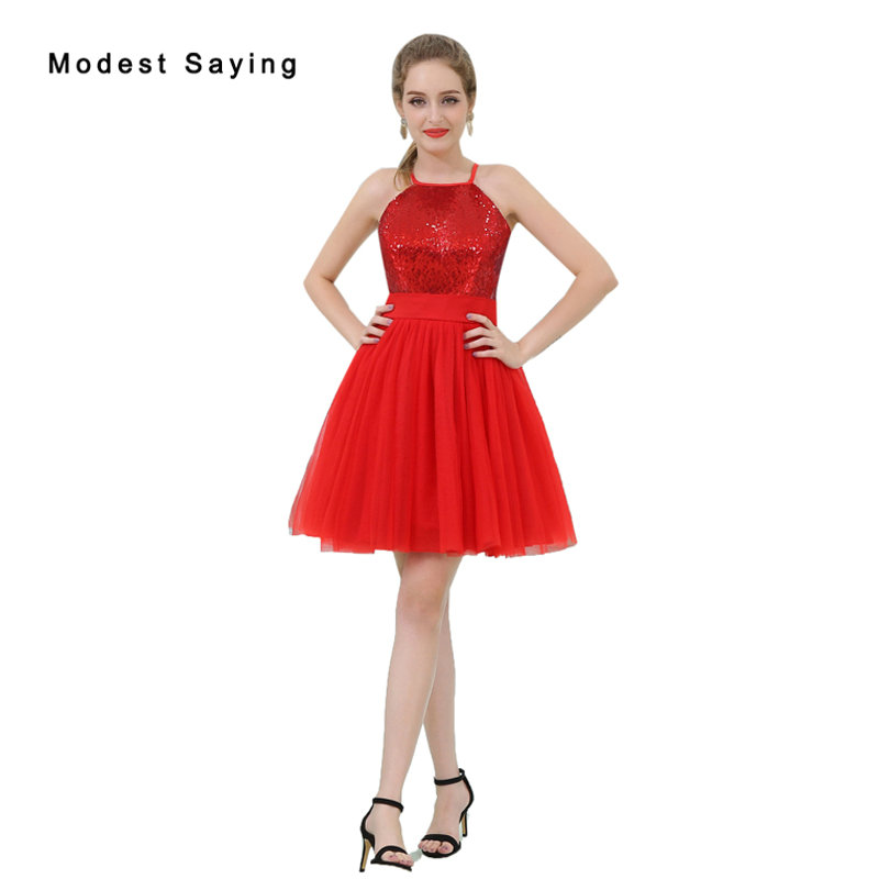 50592139844 Elegant Red A-Line Short Sequined Homecoming Dresses 2017 New Fashion with Straps  Formal Mini 8th grade Graduation Gowns B053