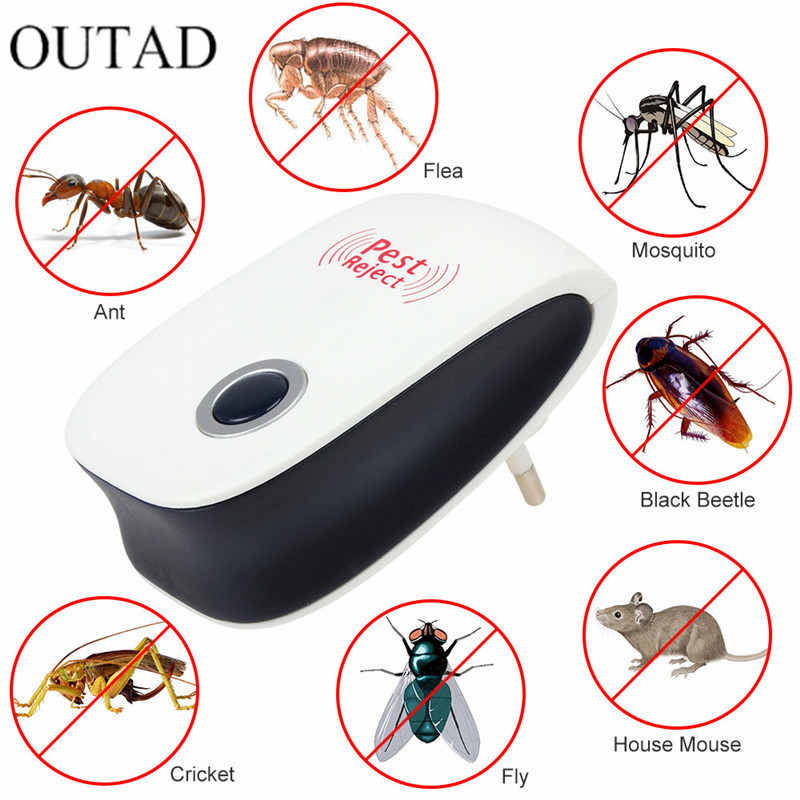 OUTAD Enhanced Version font b Electronic b font Cat Ultrasonic Anti Mosquito Insect Pest Controler Mouse