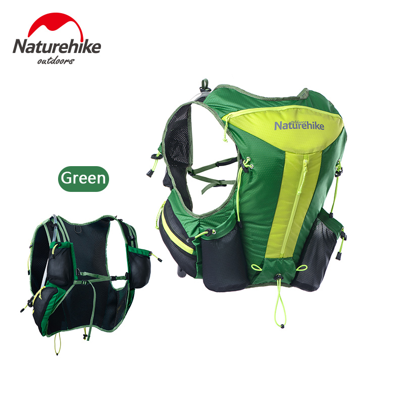 Naturehike Lightweight Vest type Cross country Running Backpack Outdoor Sport Double layer Shoulders Bag Hydration Carrier