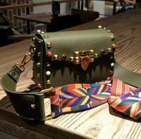 2017 SMALL PU Leather Handbags Saddle Crossbody Bag Shoulder Messenger Bag