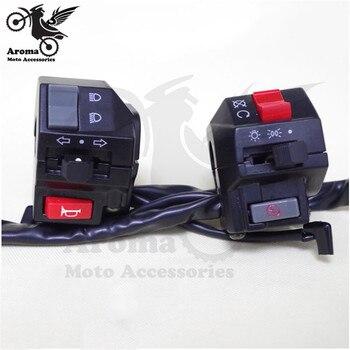 Multi-fonction contrôle universel motocross ATV hors route dirt pit vélo scooter chaud moto interrupteur moto guidon commutateurs