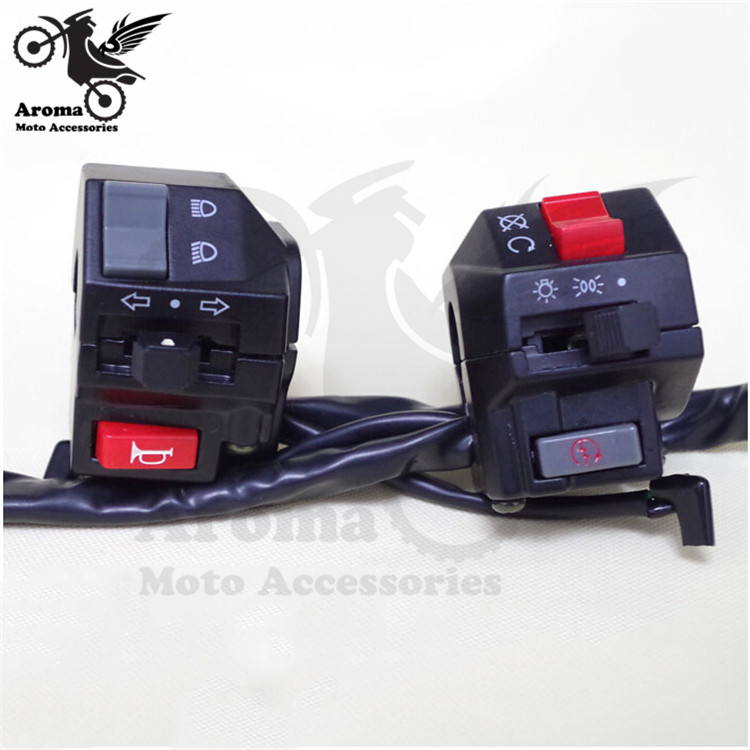 control multifunción universal motocross ATV Off-road dirt pit scooter hot moto interruptor de motocicleta manillar interruptores