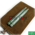 Gift chart & bag! Traditional Acupuncture Massage Tool Guasha Beauty kit Natural Aventurine (needle shape) 12pieces/lot