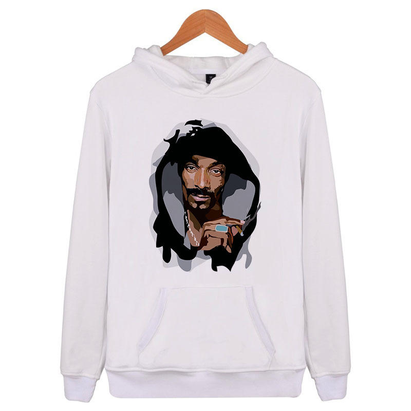 Snoop Dogg Cool Sweatshirt Men Hip Hop Long Sleeve Pullover Hoodies 2018 Sweatshirt Hoodies Men High Quality Q5875