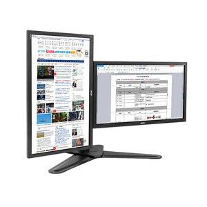 """Image 3 - 데스크탑 듀얼 스위블 풀 모션 모니터 마운트 홀더 스탠드 듀얼 모니터 스탠드 암 2 개 10 """" 30"""" LCD 최대 지원 암 당 10KG"""