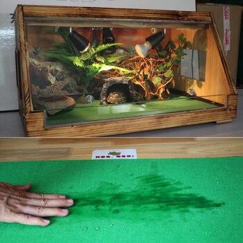 80x40cm Reptiles Carpet Liner Snakes Lizards  Terrarium Large Soft Cage Floor Green material moisturizing bottom pad