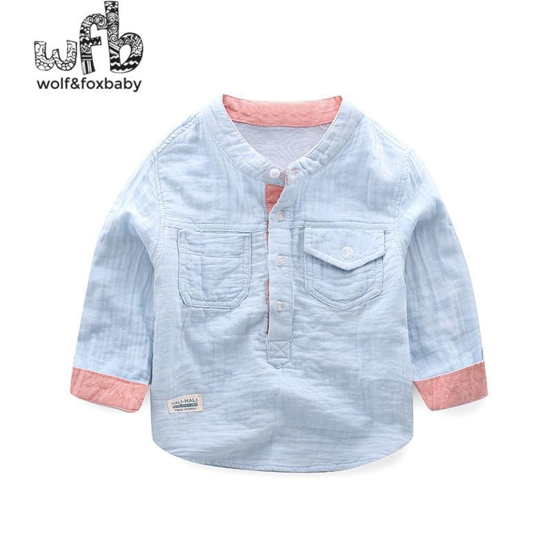24f54ee81 wholesale 5pcs/lot children kids boys mandarin collar solid cotton linen  shirt high quality denim long sleeve ...