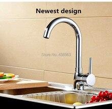 Современный кухня кран латунь хром один рычаг смеситель для ванны с одним отверстием и холодная кухня миксер torneira, Hs-35