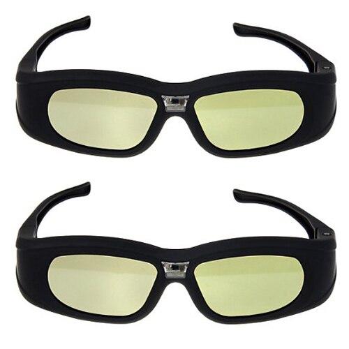 2X 3D <font><b>Active</b></font> <font><b>Rechargeable</b></font> Shutter DLP-Link Projector <font><b>Glasses</b></font> for BenQ Dell <font><b>Samsung</b></font> Optoma Sharp ViewSonic Mitsubishi DLP-Link