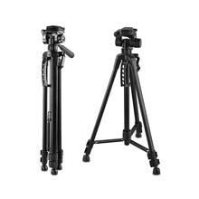 Tripé de alumínio leve para câmeras canon, nikon, sony, sigma, fuji, panasonic, jvr, samsung dja99