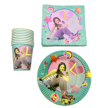 60PCS/LOT Happy Birthday Party Soy Luna Design Plates Decoration Glass Cups Kids Favors Baby Shower Napkins Events Tableware Set soy luna live barcelona