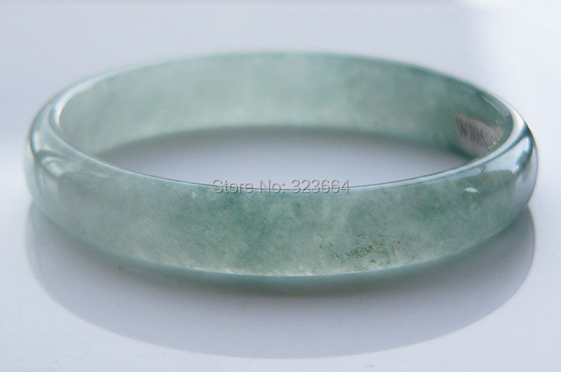 Grade A Icy Green Old Jadeite A Chinese Bangle Bracelet 59MMGrade A Icy Green Old Jadeite A Chinese Bangle Bracelet 59MM