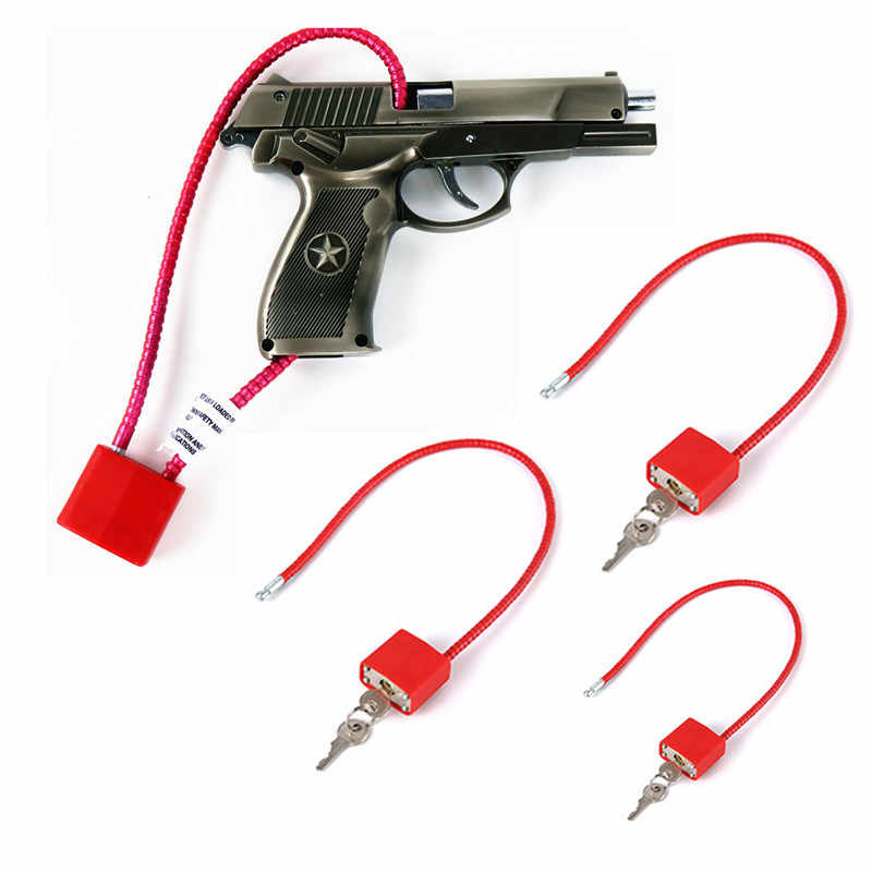 Shop SoftAir Caja de seguridad con cable y llaves para pistola grande