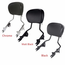 лучшая цена Motorcycle Detachables Upright Backrest Pad Sissy Bar For Harley Touring Road King Street Glide Electra Glide Ultra 2009-2018