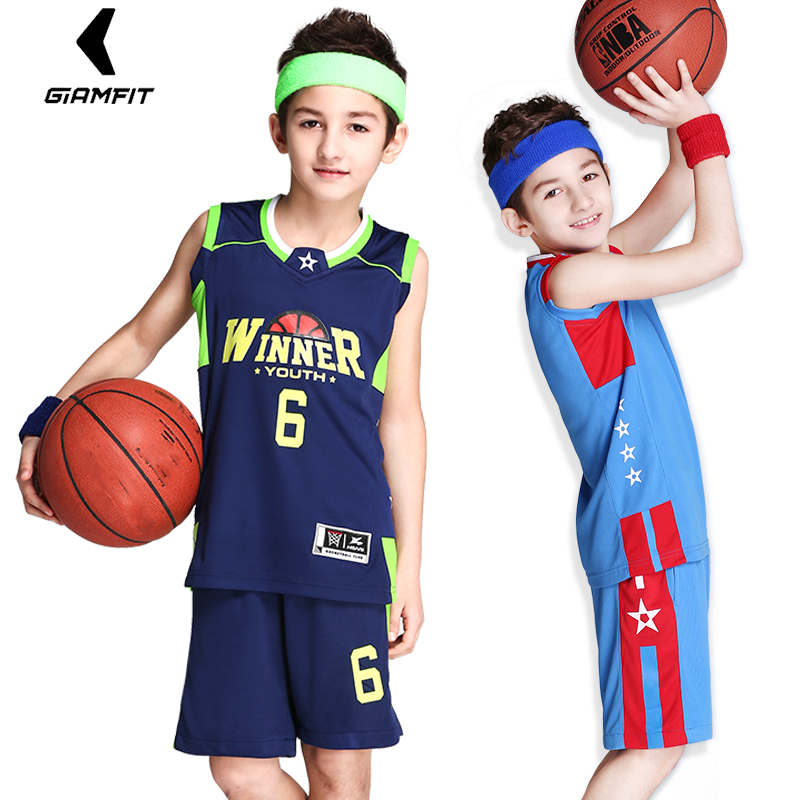 new concept a232f 7ced5 US $15.9 45% OFF|Kids Basketball Jerseys Uniforms For Boys 2PCS Set  Sleeveless Sportswear Breathable Sports Kit Jerseys Customized Shorts  Suits-in ...