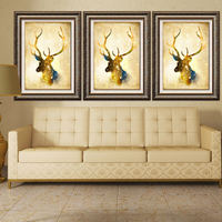 New Diy Diamond Painting Cross Stitch Handcraft Embroidery Abstract Animal Head Arts Crafts Sewing Deer Needlework Mosaic Paint