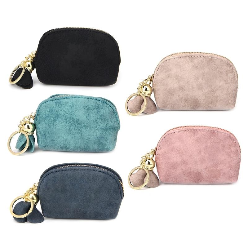 THINKTHENDO Fashion Women Girls Cute Mini Wallet Card Key Holder Zip Coin Purse Clutch Bag