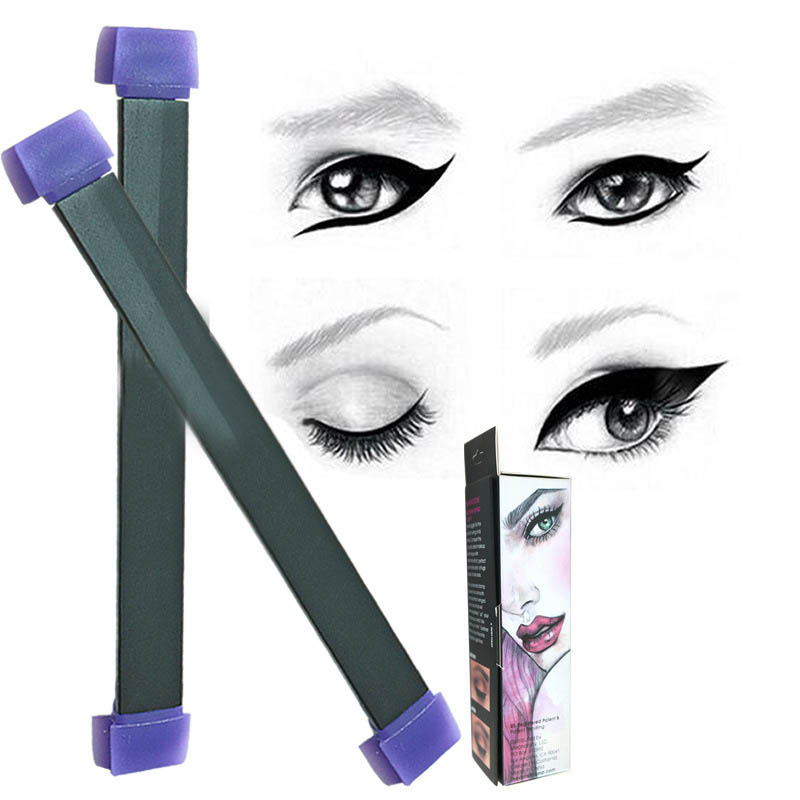 Beauty & Health Eyeliner Sporting New Winged Eyeliner Stamp Silicone Cat Eye Wing Eye Liner Template Double-headed Makeup Seal Women Girls Cosmetics Applicator To Suit The PeopleS Convenience
