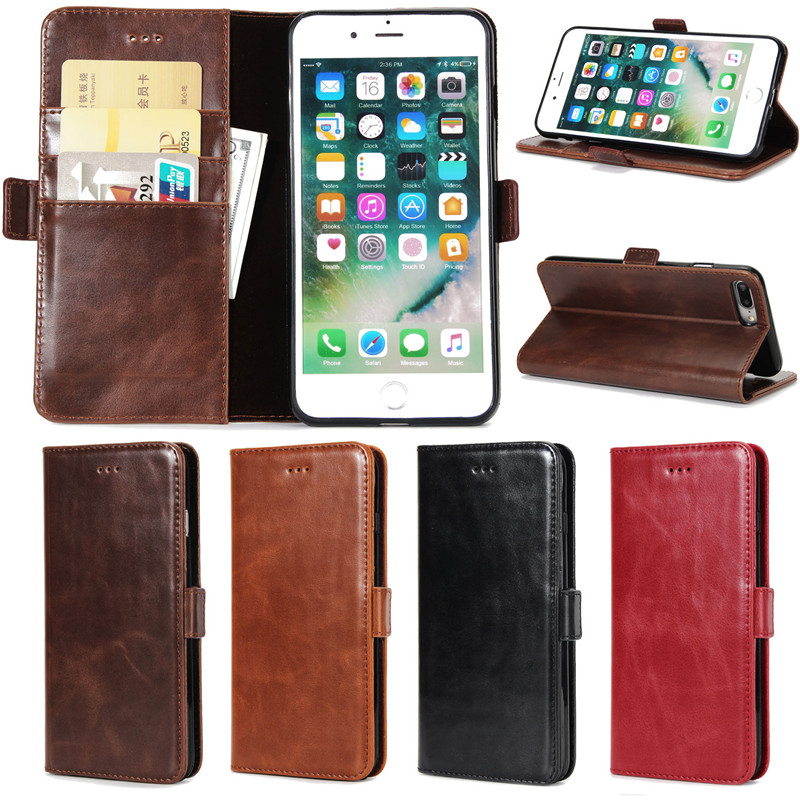 Ретро Роскошный кошелек чехол для Apple iPhone 7 <font><b>Plus</b></font> Оригинал искусственная кожа флип телефон сумка-чехол для iPhone 7 s плюс Чехол