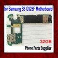 32 gb desbloqueado original para samsung galaxy s6 edge g925f motherboard, europa versão para samsung s6 g925f mainboard