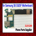 32 gb desbloqueado original para samsung galaxy s6 edge g925f placa base, la versión de europa para samsung s6 g925f mainboard
