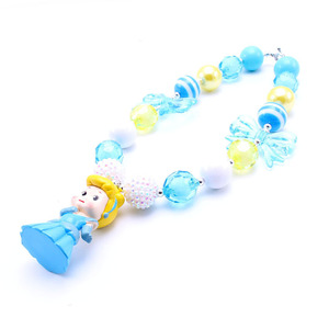 Image 3 - MSH.SUN 1set Hot sale Cute Princess Kid Chunky Necklace DIY Bubblegum Bead Chunky Necklace Jewelry For Children Girls BN009