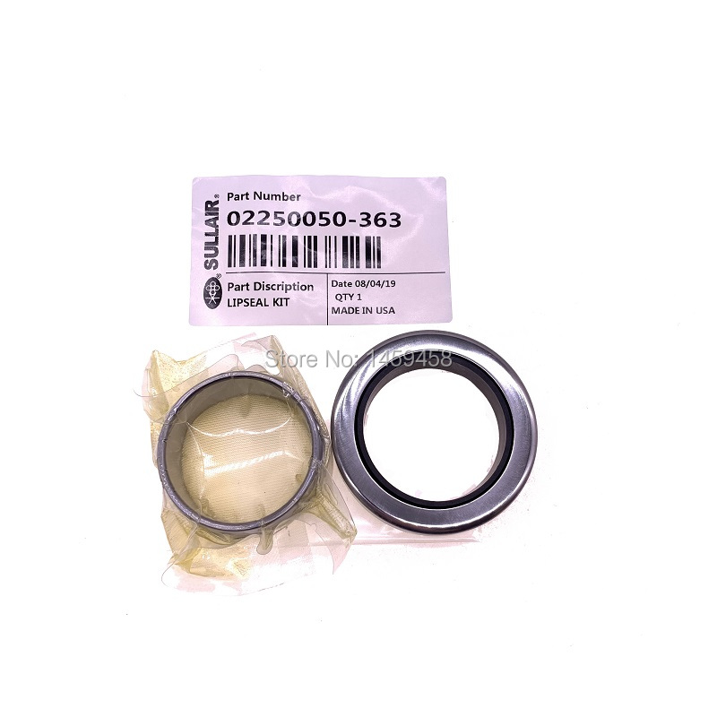 Free shipping 2pcs/lot alternative Sullair shaft seal sleeve kit 02250050 363 for air compressor part