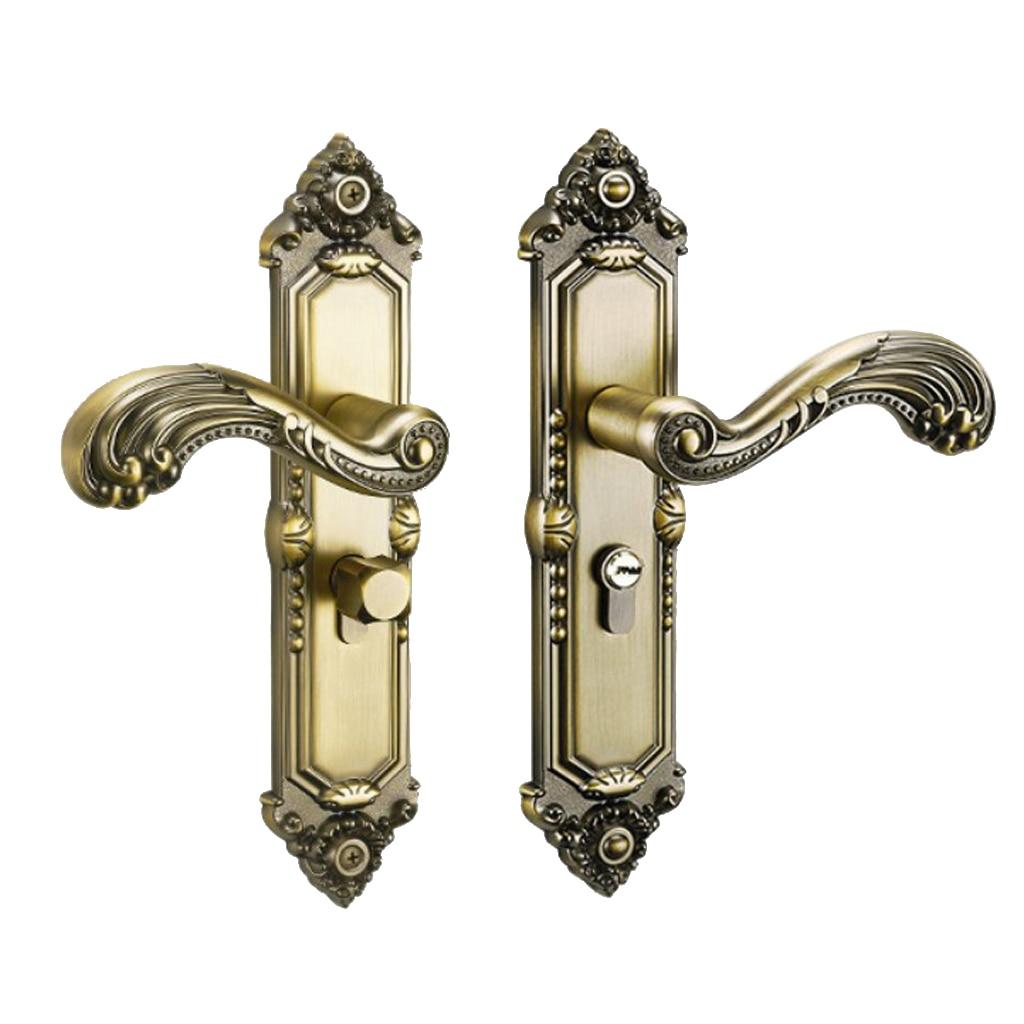 European Style Interior Door Handle Lock Interior Bedroom Bookroom Kitchen Wooden Door Handle Lock Sets
