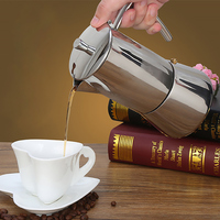 Stainless Steel Stove Mocha Coffee Maker Pot Top Moka Coffee Pots Italian Espresso Coffee Maker Percolator Tool Mocha Cafetiere