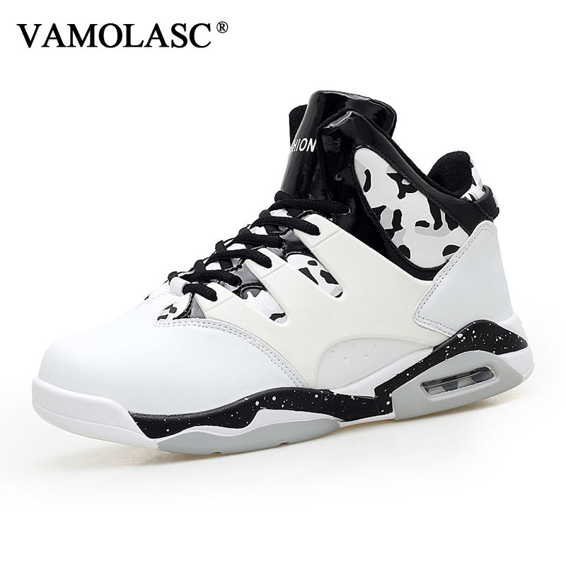 VAMOLASC New Men's Leather Basketball Shoes Totem Waterproof Breathable Sneakers High Top Athletic Shoes Sports Shoes BS0349 new men s basketball shoes breathable height increasing wear resisting sneakers athletic shoes high quality sports shoes bs0321
