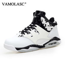 VAMOLASC New Men's Leather Basketball Shoes Totem Waterproof Breathable Sneakers High Top Athletic Shoes Sports Shoes BS0349