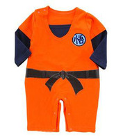 Baby Boy Romper Goku Dragon Ball Z Cartoon Long Sleeve Baby Romper Infant Toddlers Jumpsuit Martial