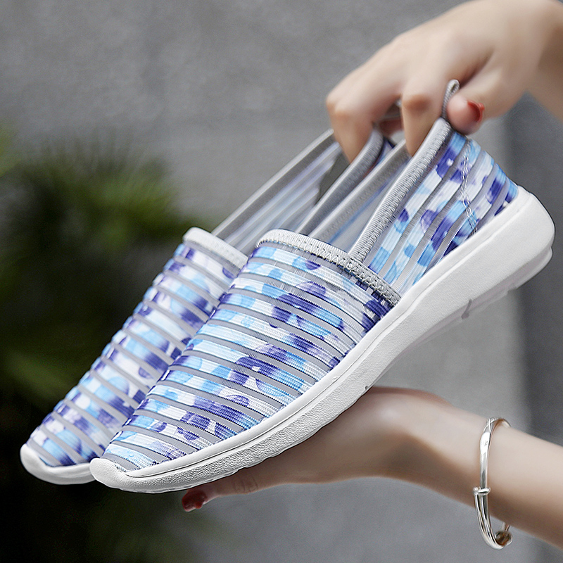 2018 light Sneakers Women Breathable colorful Upper Platform Shoes running Feminino Casual Shoes female mom shoes in Running Shoes from Sports Entertainment