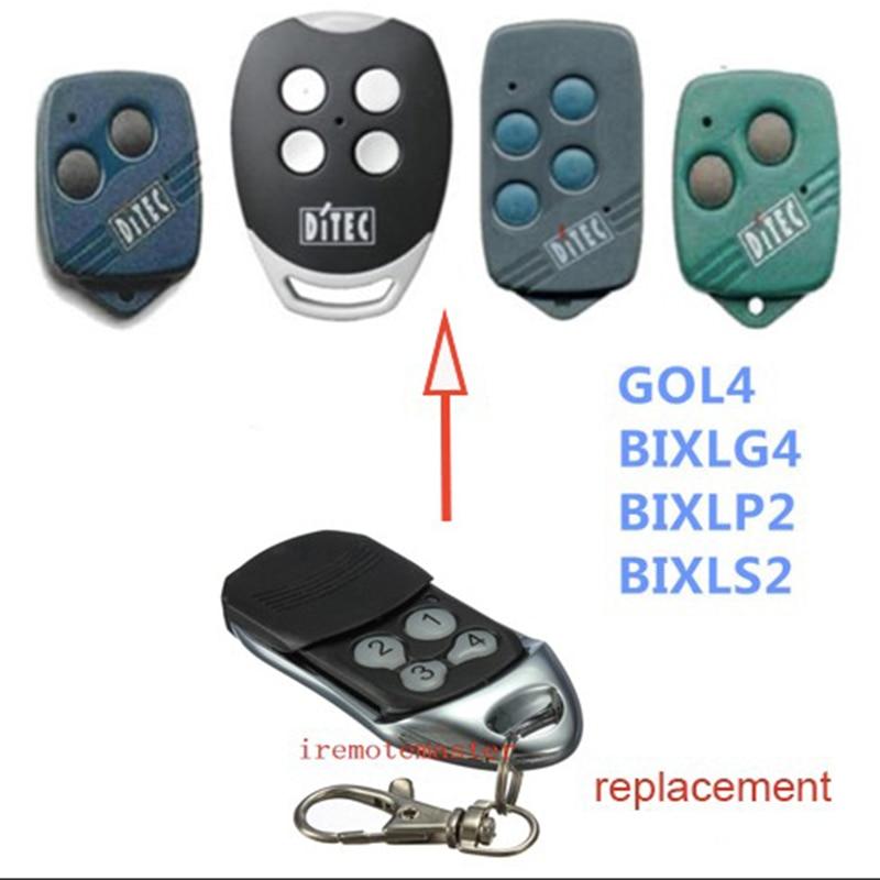 Back To Search Resultshome Ditec Bixls2 Bixlp2 Gol4 Bixlg4 Garage Door Remote Control 433.92/433mhz Rolling Code Key Fobs Ditec Handheld Transmitter