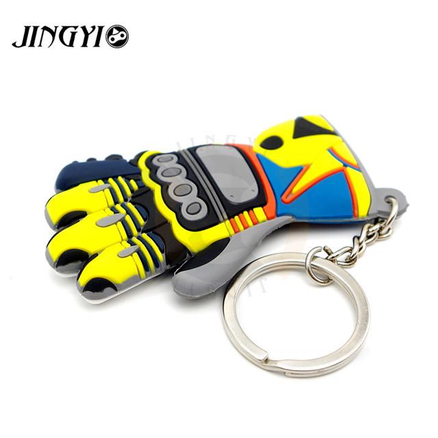 Rubber Motorcycle Accessories Moto Key chian KeyChain 3D KeyRing llavero Chaveiro Key Holder FOR Honda Suzuki Kawasaki KTM Fans