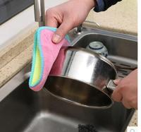 10 thickened absorbent rags kitchen lint dishwashing towels do not touch oil cleaning cloth dish towel kitchen towel