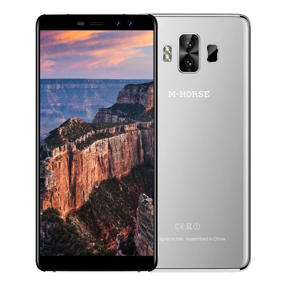 M-HORSE Pur 1 4G Phablet Smartphoe 5.7 Pouce Android 7.0 MTK6737 Quad Core 1.3 GHz 3 GB RAM 32 GB ROM Double Caméras Arrière D'empreintes Digitales