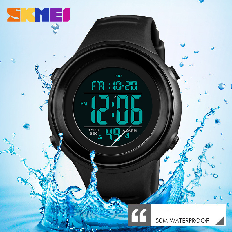 <font><b>SKMEI</b></font> Military Sports Watches Luxury LED Luminous Digital Waterproof Mens Clock Outdoor Countdown Wristwatches Relogio Masculino image