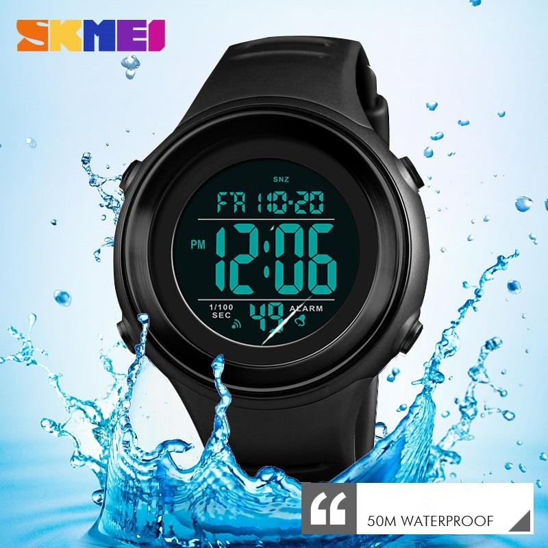 SKMEI Military Sports Watches Luxury LED Luminous Digital Waterproof Mens Clock Outdoor Countdown Wristwatches Relogio Masculino