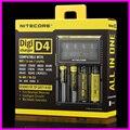 2016 caliente Original Nitecore D4 LCD Circuito Inteligente para 18650 14500 16340 26650 Cargador de batería 18650 cargador