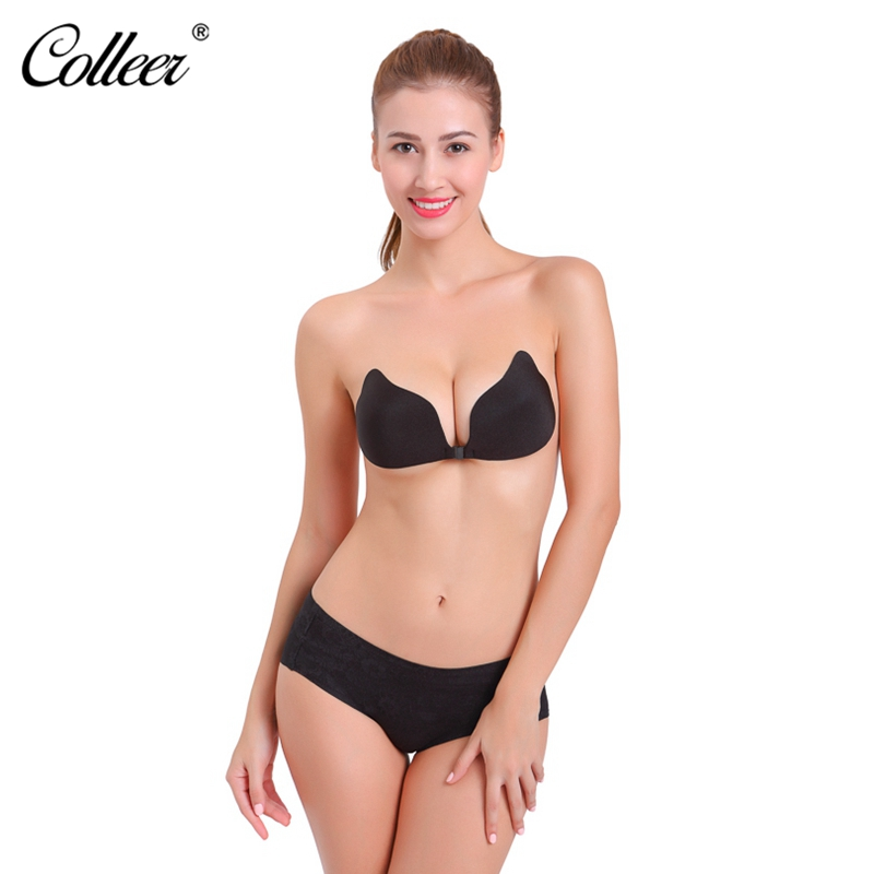 5fe3dba210ed3 COLLEER Strapless Seamless Bra BH Push Up Bralette Sexy Bras for Women  Wedding sujetador Silicone Bra ...