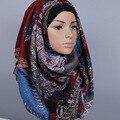 7 Cores Castanha de caju Floral Viscose Asteca Xaile Do Lenço 2017 meninas Moda Quente Sjaal Senhoras Encantadoras Impresso Voile Hijab Muçulmano tampas