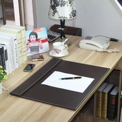 60x45cm Escritorio de oficina grande cuero de PU diseño de dibujo tablero de escritura carpeta de archivos teclado mat clip de papel organizador de escritorio 235B