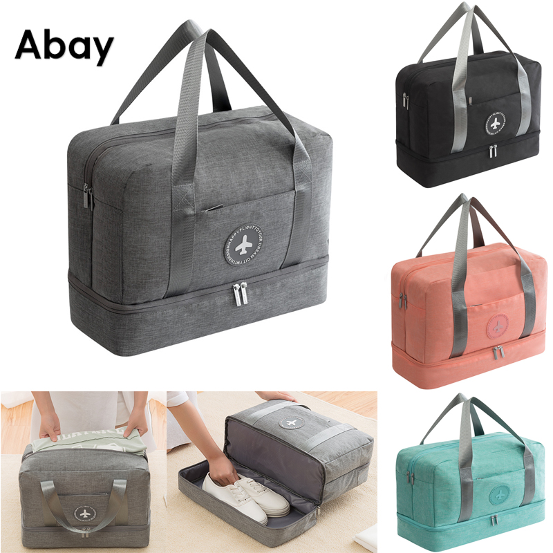 ABAY 2019 Dry And Wet Travel Bag Swimming Bags Hand Luggage For Men & Women Fashion  Duffle Bags Large Bag Water-proof Bag