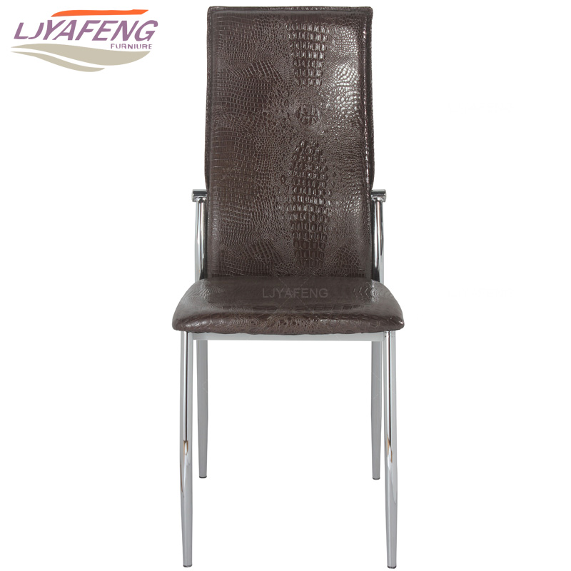 9061-3, the Artificial crocodile skin, kitchen chair and iron chair are brown. According to the bar's kitchen Family furniture 9050a the artificial leather dining chair kitchen chair and iron chair are white according to the bar s kitchen family furn