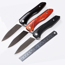 9Cr15mov blade G10 or Wood handle Ball bearing system folding knife outdoor camping survival tool hunting EDC tactical knives