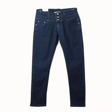Women Classic High Waist Slim Fit Dark Blue Jeans Lady Casual Plus Size Elastic Stretch Trouser