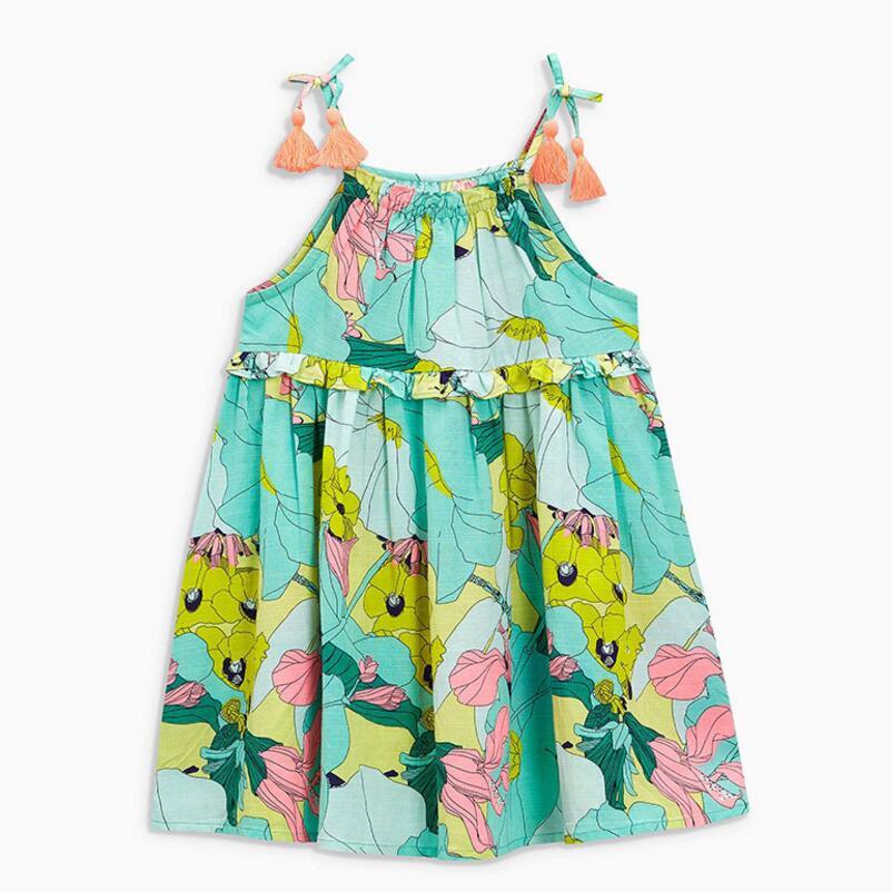 Little maven 2019 new summer baby girls brand dress kids cotton aimal star print sleeveless sundress